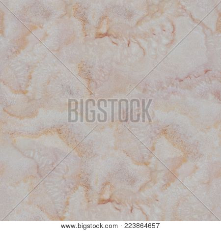 Light onyx texture with beige tracery. Seamless square background, tile ready. High resolution photo.