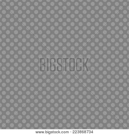 Tile vector pattern with black polka dots on dark grey green background