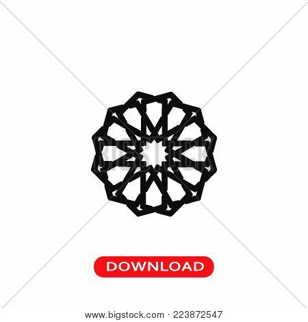 Islamic Art icon vector in modern flat style for web, graphic and mobile design. Islamic Art icon vector isolated on white background. Islamic Art icon vector illustration, editable stroke and EPS10. Islamic Art icon vector simple symbol for app, logo, UI