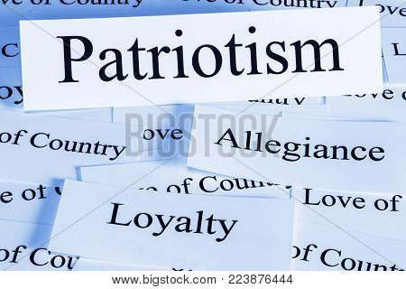 Patriotism Concept - a conceprual look at patriotism, love of one's country.