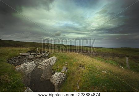 Cairn in Scotland, built by Picts or Celts a long time ago.