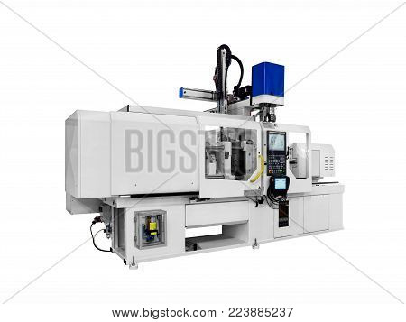 Production machine for manufacture products from pvc plastic extrusion technology