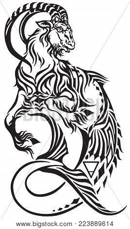 Capricorn Zodiac Sign Vector Photo Free Trial Bigstock