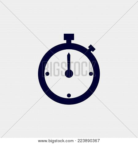 stopwatch icon, vector illustration. timer icon vector