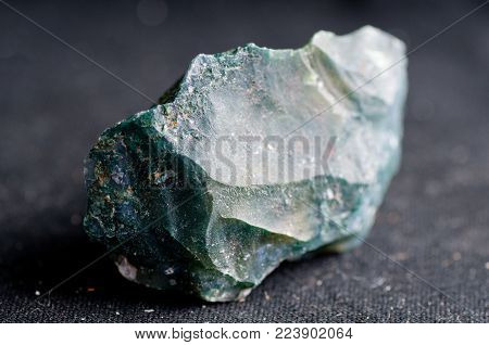 moss agate crystal mineral sample used as a healing stone