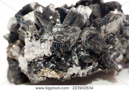 stibnite crystal mineral sample, a semi precious rare earth mineral