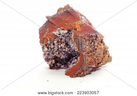 adamite purple crystal mineral sample,a rare earth element