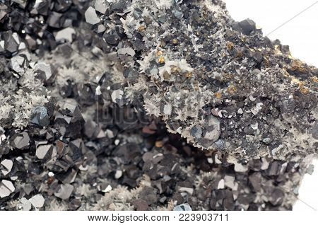 galena metallic ore mineral sample, a rare earth mineral