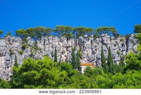 Hidden House Inside The Cliff In Croatia