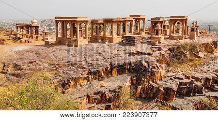 Ancient Tombs Of Jaswant Thada In Jodhpur, India. Jaswant Thada Was Built By Maharaja Sardar Singh O