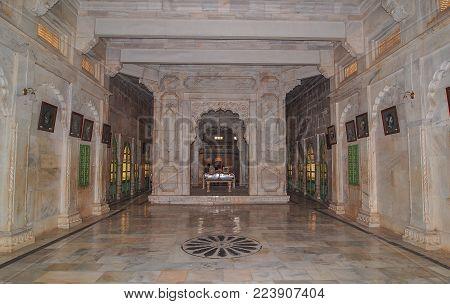 Jodhpur, India - Mar 6, 2012. Interior Of Jaswant Thada In Jodhpur, India. Jaswant Thada Was Built B
