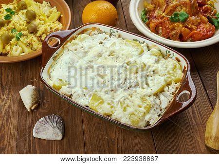 Portuguese Bacalhau Com Natas