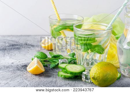 Healthy Infused Citrus Sassi Water With Lemon And Cucumber