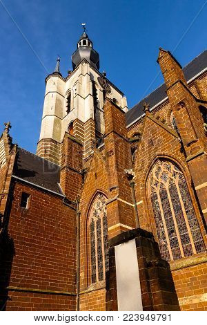Medieval gothic Church of Our Lady (Onze-Lieve-Vrouwekerk) built in 14th century. Aarschot - Flemish Brabant - Flanders - Belgium