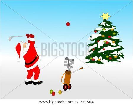 Santa Decorates A Tree2