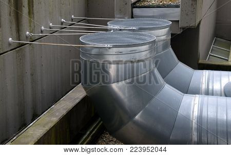 Roof exhaust pipelines made of stainless steel