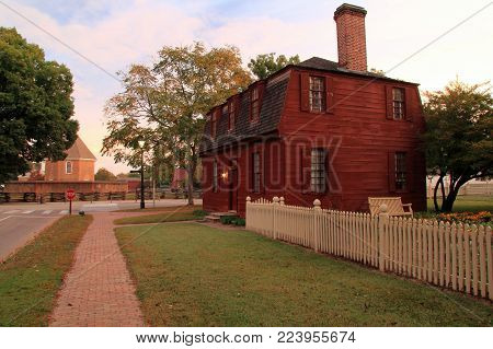 Williamsburg, Va - October 6: The Lightfoot Tenement Is One Of The Numerous Historical Structures Th