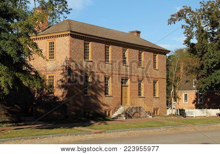 Williamsburg, Va - October 6: Of Georgian Architecture, The Imposing Ludwell-paradise Home Was Built