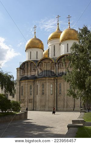 ASSUMPTION CATHEDRAL AT THE KREMLIN MOSCOW RUSSIA