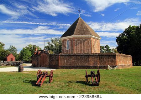 Williamsburg, Va - October 7: Built By Governor Spotswood In 1715, The Magazine Stored Vital Militar