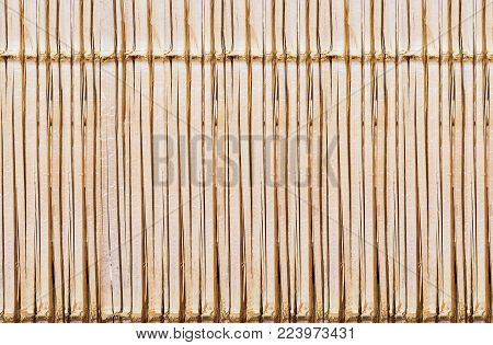 Bamboo Style Old Fence, Dirty Bamboo Surface Background .