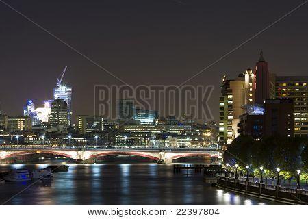 London and River Thames at Night.