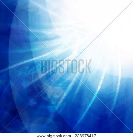 abstract blue flash, to use for the background
