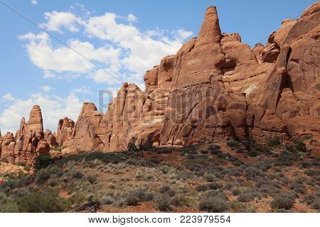 Broken Arch Trail in Arches National Park. Utah. USA