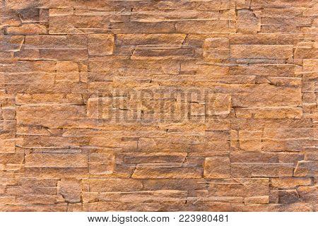 coarse texture of decorative masonry