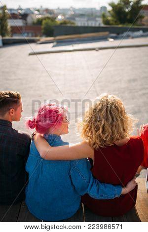 female support. women friendship bff. Two girls hug. Togethrness unity help. Youth lifestyle