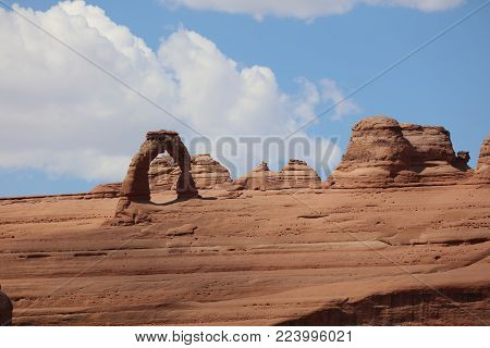 Delicate Arch in Arches National Park. Utah. USA
