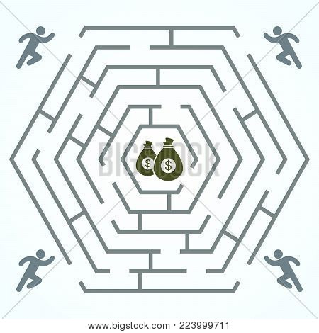 Run Money - Hexagonal Vector & Photo (Free Trial) | Bigstock