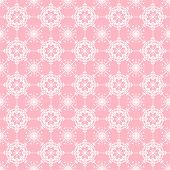 white lace on pink background seamless pattern poster