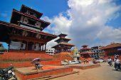 Temple in Durbar Square in Kathmandu Nepal poster