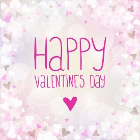 Vector pink background for Valentines day. You can use for greeting cards, posters and design projects.