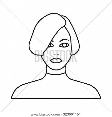 Vector Illustration Of Girl And Hairdo Symbol. Collection Of Girl And Woman Stock Vector Illustratio