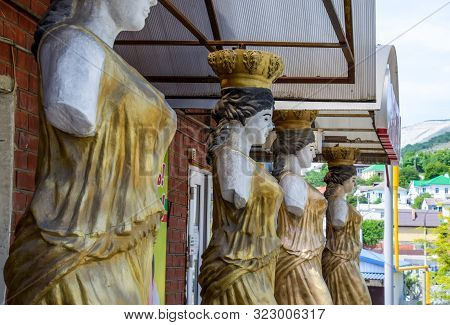 Novorossiysk, Russia - May 20, 2018: Statues Of Women Without Hands In The Form Of An Aphrodite As S