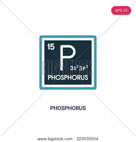 phosphorus icon in two color design style.
