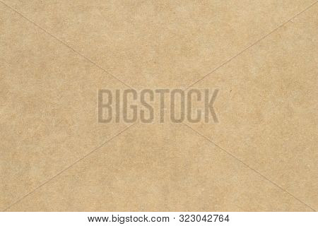 Light Brown Wrapping Texture. Beige Parchment, Manuscript. Natural Sheet Surface. Old Paper Backgrou