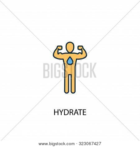 Hydrate Concept 2 Colored Line Icon. Simple Yellow And Blue Element Illustration. Hydrate Concept Ou
