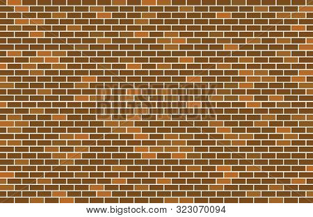 Abstract Brick Vector Background. Texture Vector Brick Wall. Red Brick Vector Wall. Vector Illustrat
