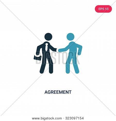 agreement icon in two color design style.