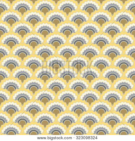 Creative Snake Skin Scales Squama Background, Vector Seamless Fabric Pattern, Tiled Textile Print. C