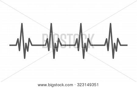 Heartbeat Heart Beat Pulse Flat Vector Icon For Medical Apps And Websites.