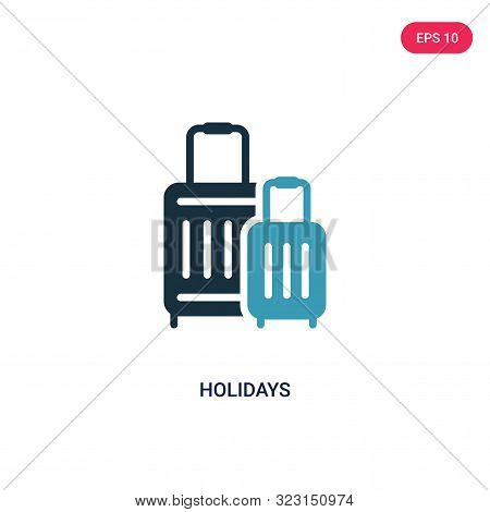 Holidays Icon In Two Color Design Style. Holidays Vector Icon Modern And Trendy Flat Symbol For Web