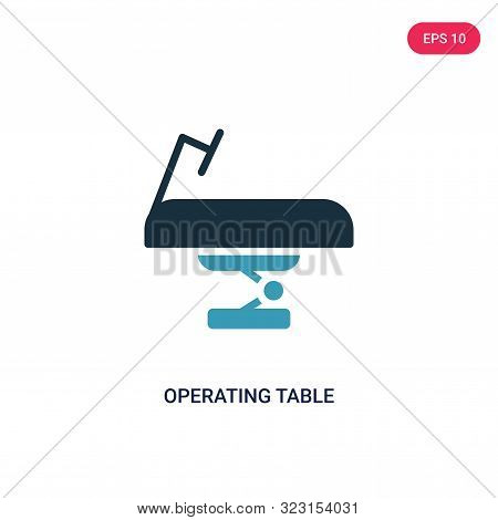 operating table icon in two color design style.