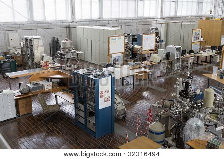 Interior of nuclear laboratory