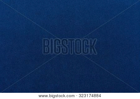 Navy Blue Dark Fabric Texture Background Top View Banner. Classic Blue Cloth Empty Canvas, Seamless