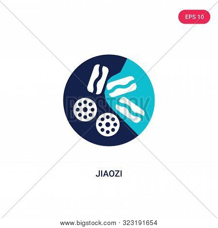 jiaozi icon in two color design style.