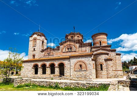 Saints Clement and Panteleimon Church at Plaosnik in Ohrid, North Macedonia poster